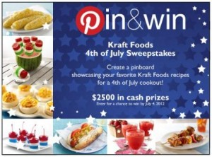 Kraft Foods Pin and Win
