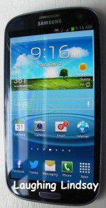 Samsung Galaxy S III Pebble Blue Phone
