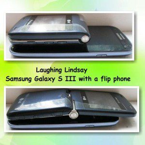 Samsung Galaxy S III with a flip phone