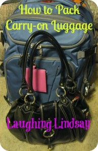 pack carry-on luggage