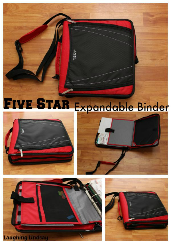 Mead Five Star Expandable Binder with Pocket